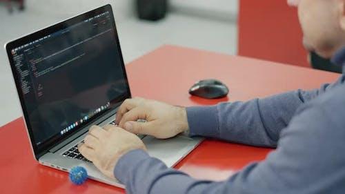 Web or Application Development, Business and Technology Concept. Programmer, Man Software Developer