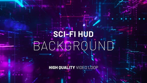 Cyber Sci-Fi Hud Background