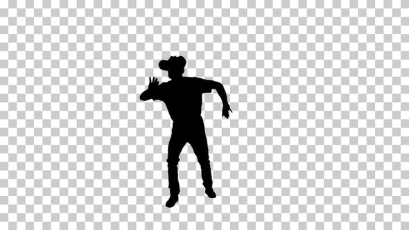 Silhouette  man using , Alpha Channel