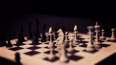 Chess board game animation