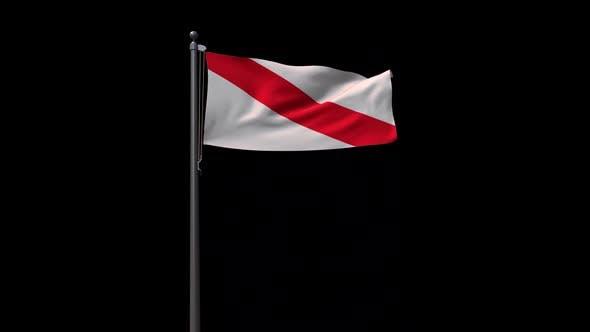 Flag Of Strasbourg With Alpha 2K