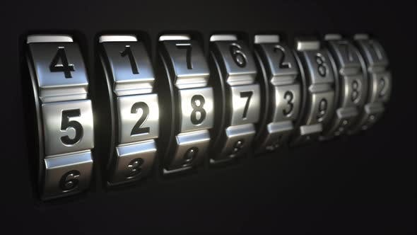 Metal Code Lock Rings Reveal SECURITY Word