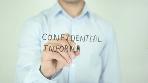 Confidential Information, Writing On Screen