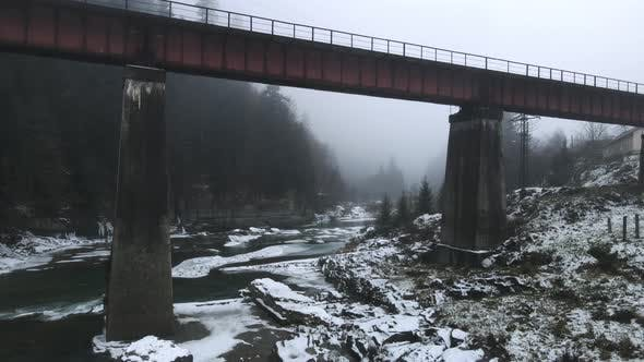 Carpathian Waterfall Probiy, Yaremche, Ukraine