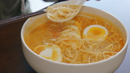 Thumbnail for Delicious laksa in bowl