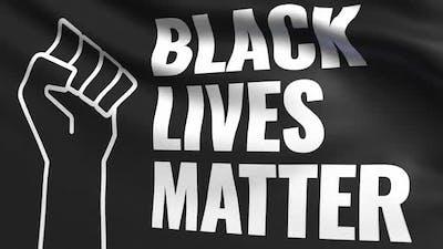Black Lives Matter Cloth Flag