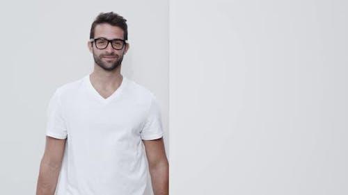 Glasses Guy In White