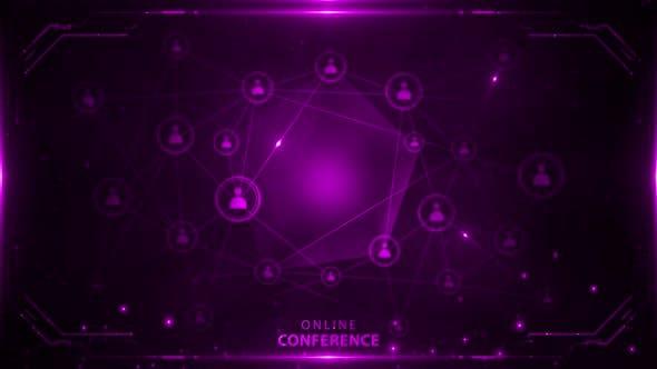 Online Conference Background Purple 4k Loop