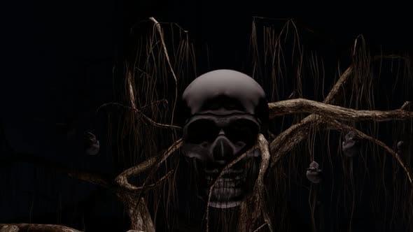 Spooky Skull Tree