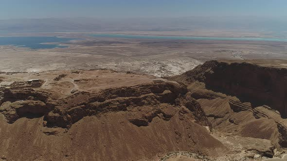 Thumbnail for Aerial view showing Masada and Dead Sea