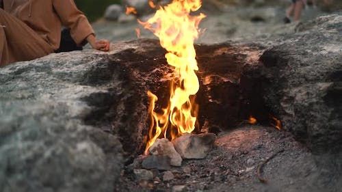 Methane with Admixture Igniting in Air on Yanartas Mountain