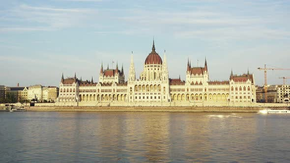 Thumbnail for Parliament Building in the Evening at the Danube River in Budapest, Hungary