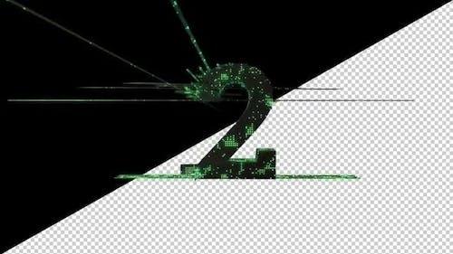 Matrix Countdown Counter