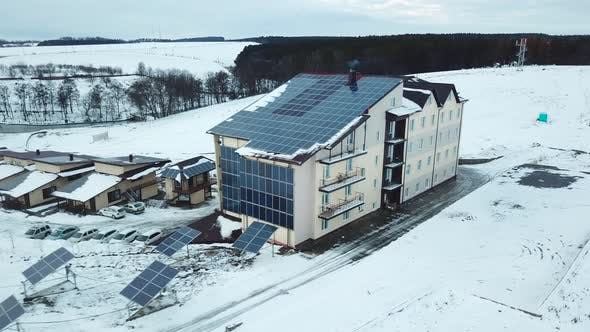 Cover Image for Hotel Complex in the Mountains with Solar Panels