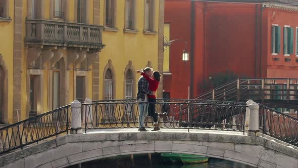 Thumbnail for Romantic Couple Kissing in Love in Venice, Italy. Love, Relationship, Lifestyle Concept.
