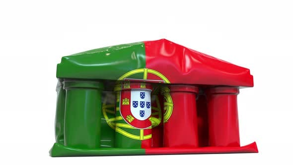 Thumbnail for Deflating Bank or Government Building with Flag of Portugal
