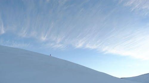 Snowboarding Uphill