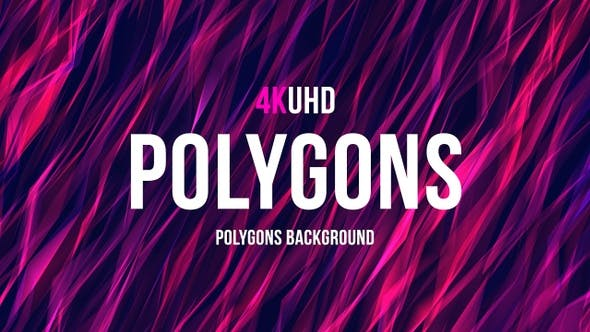 Thumbnail for Polygons Background  4K UHD