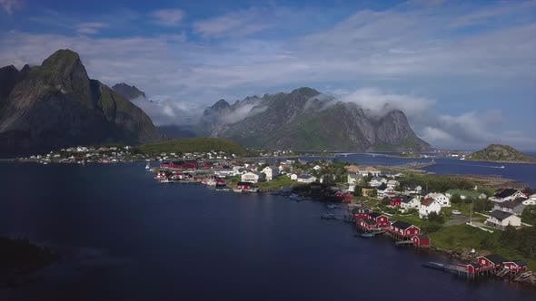Cover Image for Aerial View of Reine on Lofoten Islands in Norway