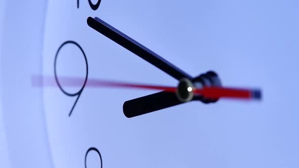Thumbnail for Round Office Clock Close Up. Slow Motion