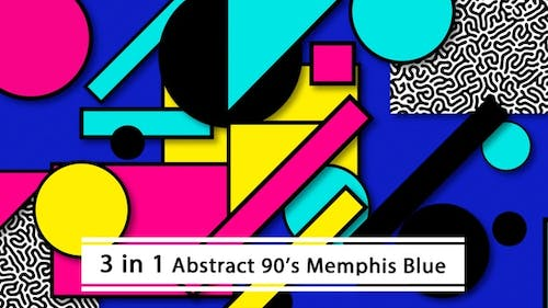 Abstract 90's Memphis Blue