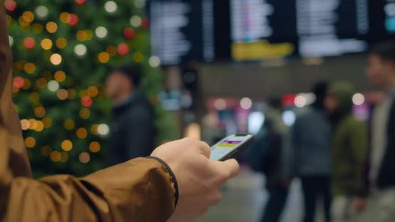 Thumbnail for Look on Phone for Information on Delayed Flights