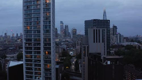 Ascending Footage of Two Fifty One High Rise Apartment Building