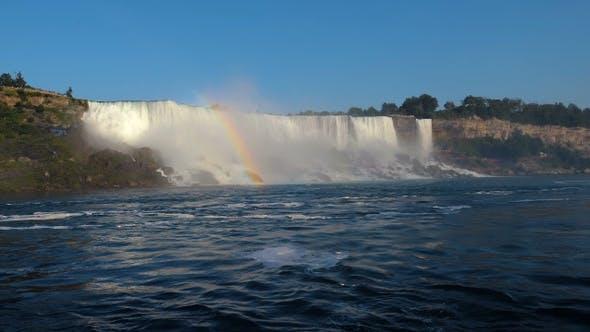 Thumbnail for Beautiful Niagara Falls and Rainbow Over It