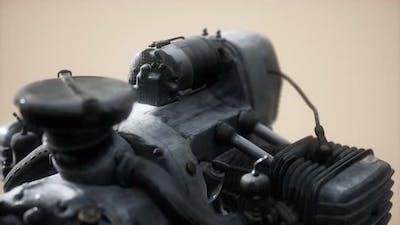 Old Rustet Opposite Engine
