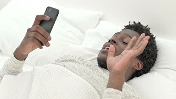 Thumbnail for Video Chat in Bed By African Man