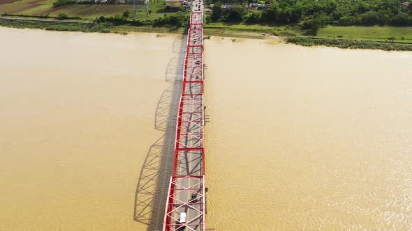 Thumbnail for Bridge Over the Cagayan River, Philippines, Aerial View.