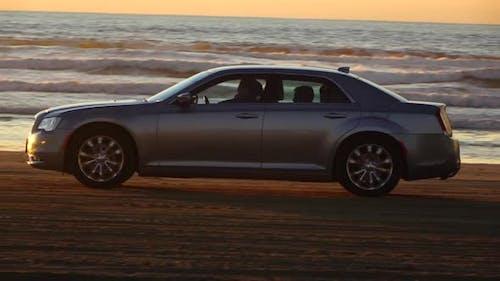 Car on the Beach