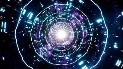 Space Nebula Sci Fi Tunnel 4K