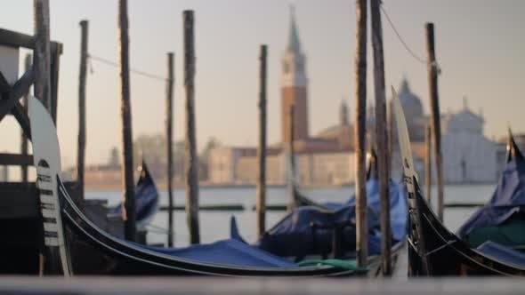 Thumbnail for Gondolas mooring in Venice, Italy