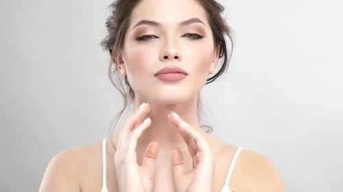 Gorgeous Lady with Light Makeup