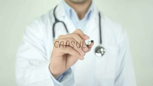 Thumbnail for Capsule, Doctor Writing on Transparent Screen