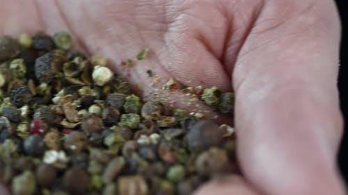 Peppercorn Blend in Male Hand