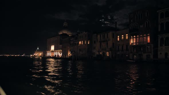 Thumbnail for Architecture of Venice at Night View From the Central Canal