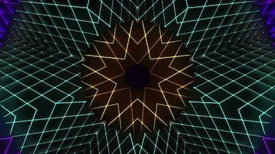 Neon Light Kaleidoscope