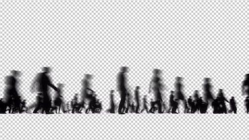 Silhouettes Motion Blur Walk