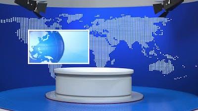 3D Virtual News Studio Background A50027