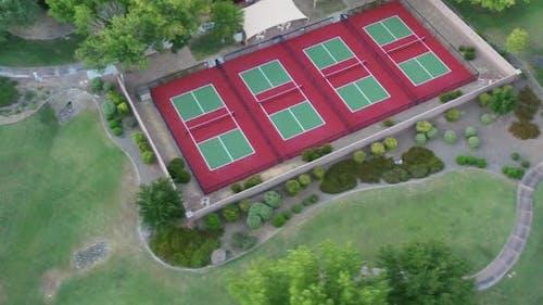 Empty Tennis Courts