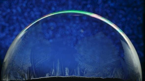 Thumbnail for Christmas Snow Globe Snowflake on Blue Animation Background