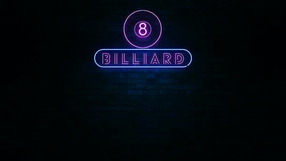 Billiard Neon Light Sign