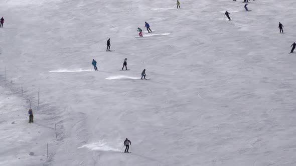 Thumbnail for Many Skiers on the Ski Slope