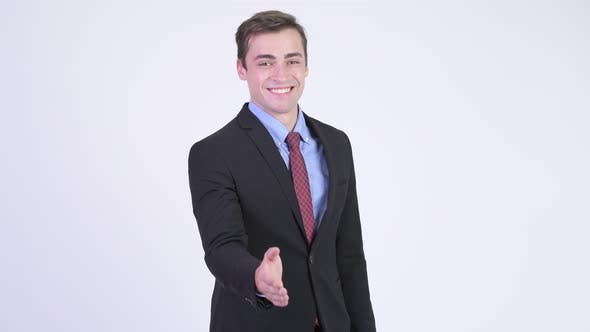 Thumbnail for Young Happy Handsome Businessman Giving Handshake