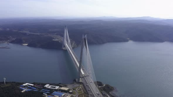 Thumbnail for Istanbul Yavuz Sultan Selim Bridge Aerial View