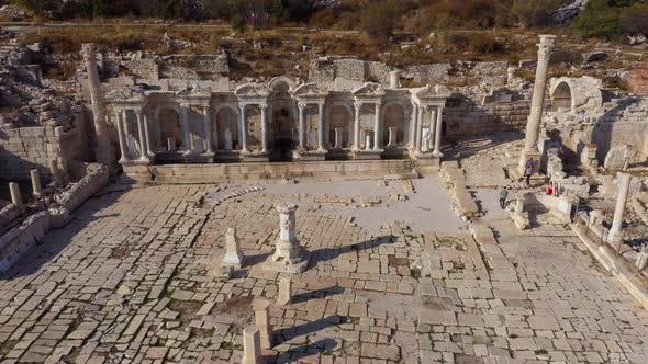 Top View of the Ruins of an Ancient City