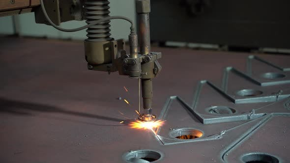 Thumbnail for Plasma Cutting of Metal on an Automatic Laser Machine
