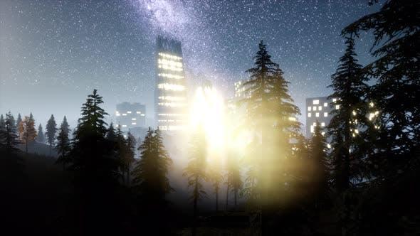 Thumbnail for City Skyscrapes at Night